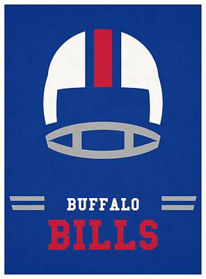 Mixed Media - Buffalo Bills Vintage Nfl Art by Joe Hamilton