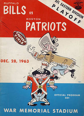Buffalo Bills Wall Art - Photograph - Buffalo Bills Vintage Program 2 by Joe Hamilton