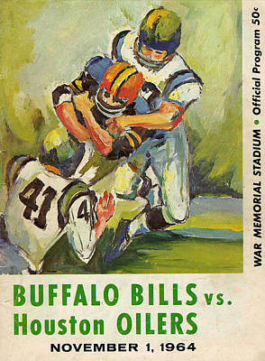 Buffalo Bills Wall Art - Photograph - Buffalo Bills Vintage Program by Joe Hamilton
