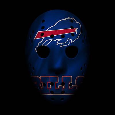 Buffalo Bills Wall Art - Photograph - Buffalo Bills War Mask by Joe Hamilton