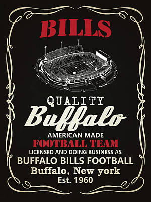 Painting - Buffalo Bills Whiskey 2 by Joe Hamilton