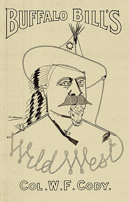 Buffalo Bill's Wild West - American History Art Print by War Is Hell Store