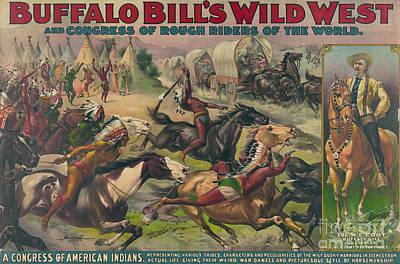 Conestoga Wagon Photograph - Buffalo Bills Wild West, American by Science Source