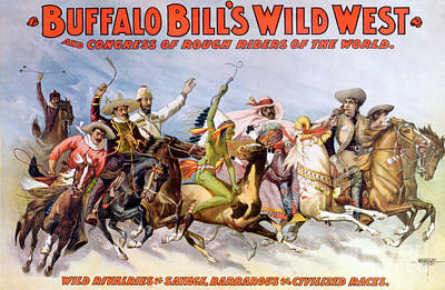 Buffalo Bills Wild West, Rough Riders Art Print by Science Source
