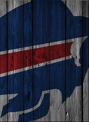 Photograph - Buffalo Bills Wood Fence by Joe Hamilton