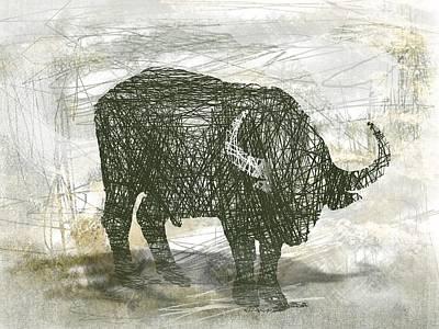 Buffalo Bull Art Print by Andre Pillay