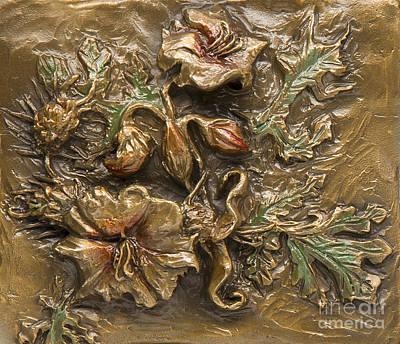 Sculpture - Buffalo Burr Flower by Dawn Senior-Trask