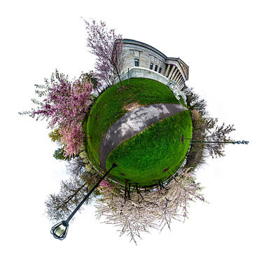 Photograph - Buffalo Cherry Blossoms - Tiny Planet 1 by Chris Bordeleau