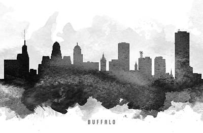 New York Digital Art - Buffalo Cityscape 11 by Aged Pixel