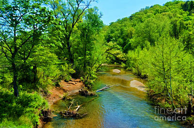Photograph - Buffalo Creek - Digital Paint by Debbie Portwood