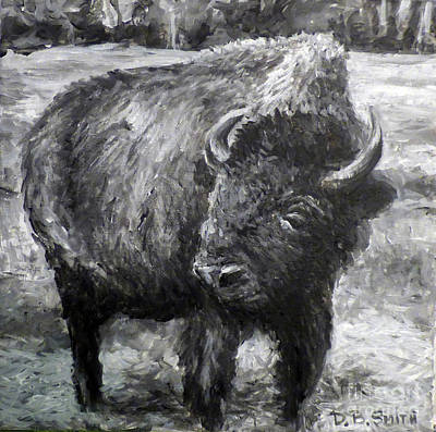 Painting - Buffalo by Deborah Smith