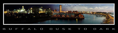 Buffalo City Hall Photograph - Buffalo Dusk To Dark 2 by Peter Chilelli