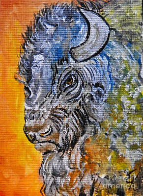 Painting - Buffalo  by Ella Kaye Dickey