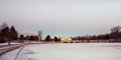 Photograph - Buffalo History Museum Across Hoyt Lake by Chris Bordeleau