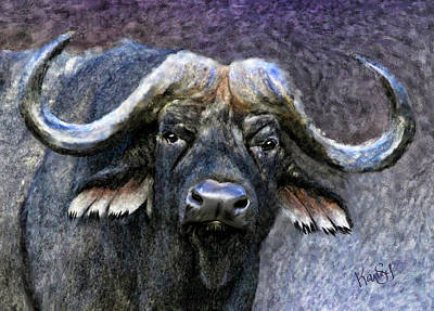 Painting - Buffalo by Johanne Dauphinais