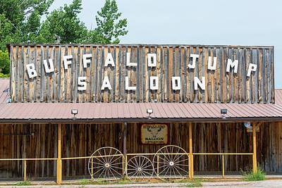Wood Buffalo Photograph - Buffalo Jump Saloon by Jess Kraft