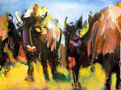 Painting - Buffalo Lips by Les Leffingwell