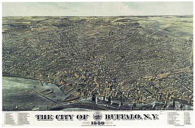 Photograph - Buffalo, Map, 1880.  by Granger
