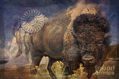 Digital Art - Buffalo Medicine 2015 by Kathryn Strick