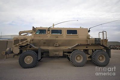 Buffalo Mine Protected Vehicle Art Print