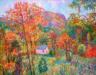 Art Print featuring the painting Buffalo Mountain In Fall by Kendall Kessler