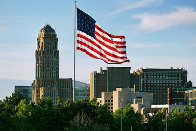 Buffalo City Hall Photograph - Buffalo Ny All American City by Peter Chilelli