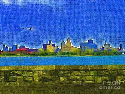 Buffalo Ny Skyline Art Print by Deborah MacQuarrie-Selib