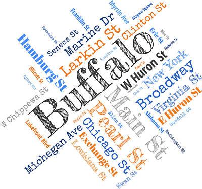 Buffalo Ny Word Cloud Art Print