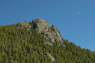 Photograph - Buffalo Rock With Waxing Crescent Moon by James BO Insogna