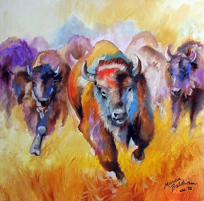 Painting - Buffalo Run 16 by Marcia Baldwin