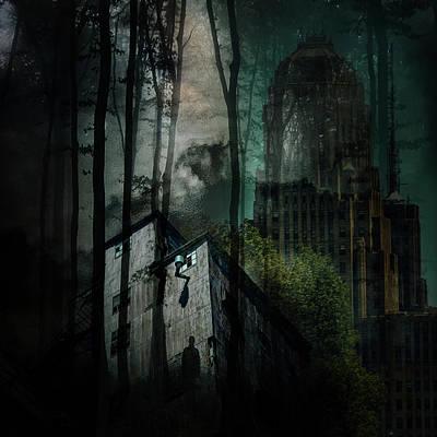 Digital Art - Buffalo Shadows by Richard Ricci