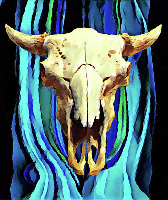 Painting - Buffalo Skull  by Gary Grayson