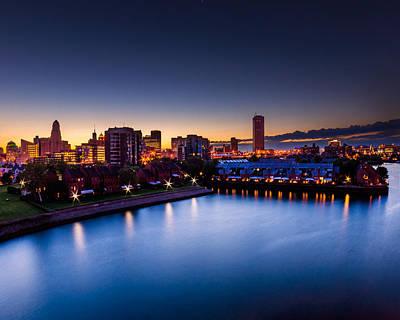 Photograph - Buffalo Skyline Twilight by Chris Bordeleau