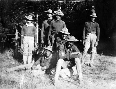 Buffalo Soldiers Of The 25th Infantry Art Print