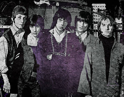 Digital Art - Buffalo Springfield by Absinthe Art By Michelle LeAnn Scott