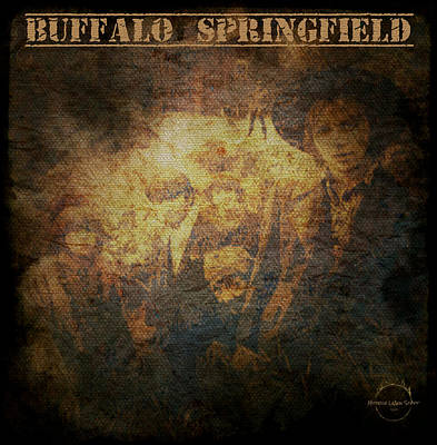 Digital Art - Buffalo Springfield - Sepia by Absinthe Art By Michelle LeAnn Scott