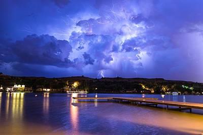 Photograph - Buffalo Springs Lightning 1 by Brandon Green