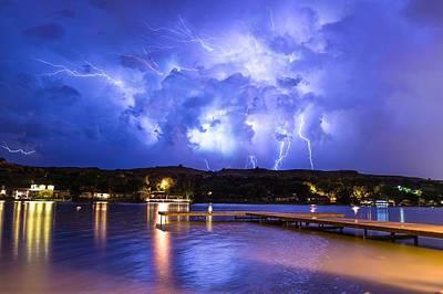 Photograph - Buffalo Springs Lightning 2 by Brandon Green