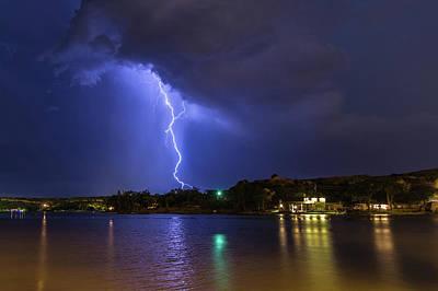 Photograph - Buffalo Springs Lightning 3 by Brandon Green