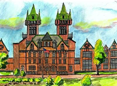 Drawing - Buffalo State Asylum by Paul Meinerth