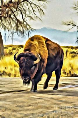 Photograph - Buffalo Stroll by Steven Parker