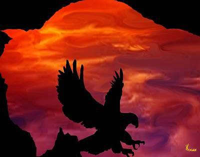 Buffalo Sunset Art Print by Will Logan
