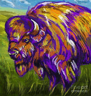 Painting - Buffalo by Tim Gilliland