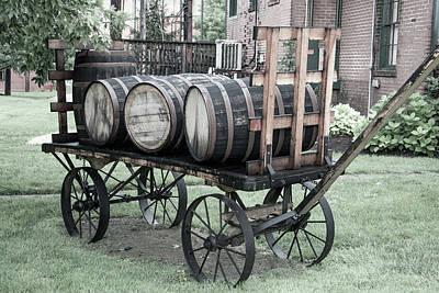 Photograph - Buffalo Trace Barrel Wagon by John Daly