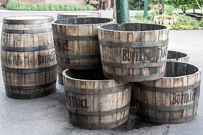 Photograph - Buffalo Trace Barrels by John Daly