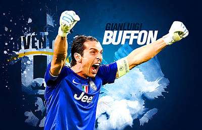 Cristiano Ronaldo Digital Art - Buffon by Semih Yurdabak