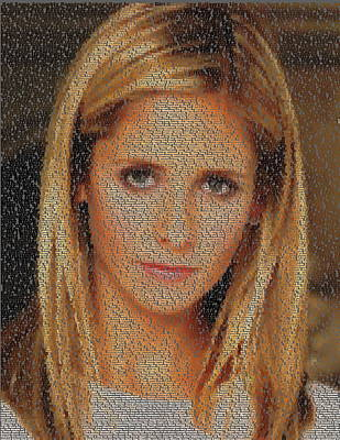 Digital Art - Buffy Episode List Mosaic by Paul Van Scott