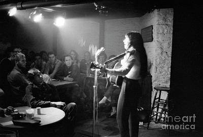 Buffy Sainte-marie At The Gaslight Cafe, 1964 Art Print by The Harrington Collection