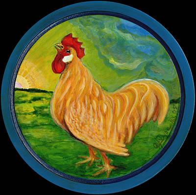 Polscy Malarze Painting - Buffy The Rooster by Anna Folkartanna Maciejewska-Dyba