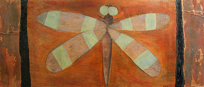 Painting - Bug Eye Dragonfly by Ellen Beauregard